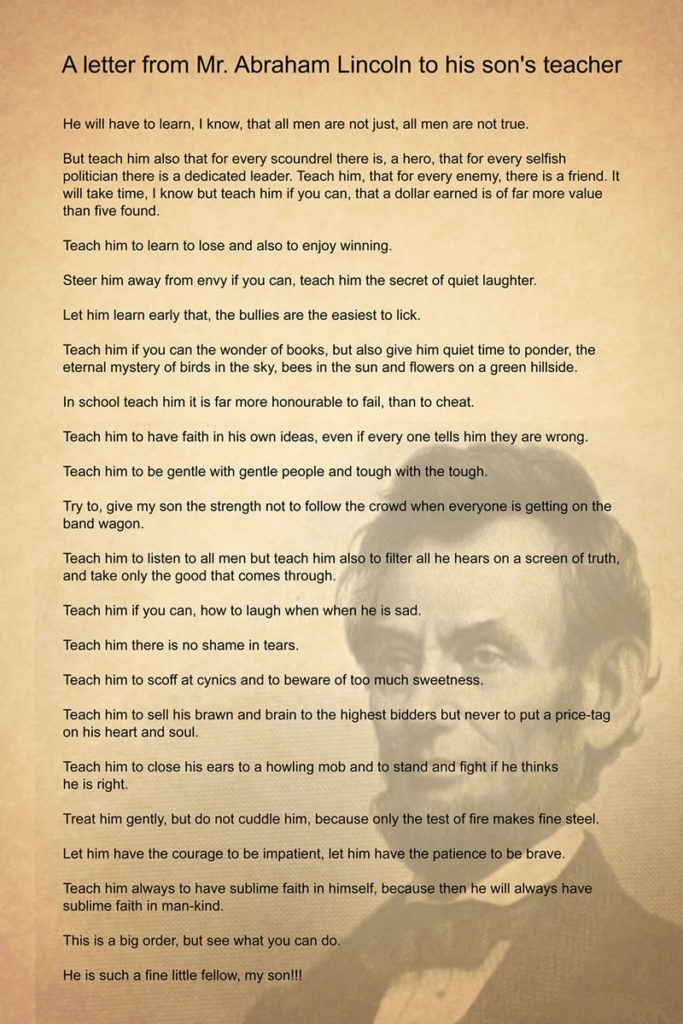 lincoln letter